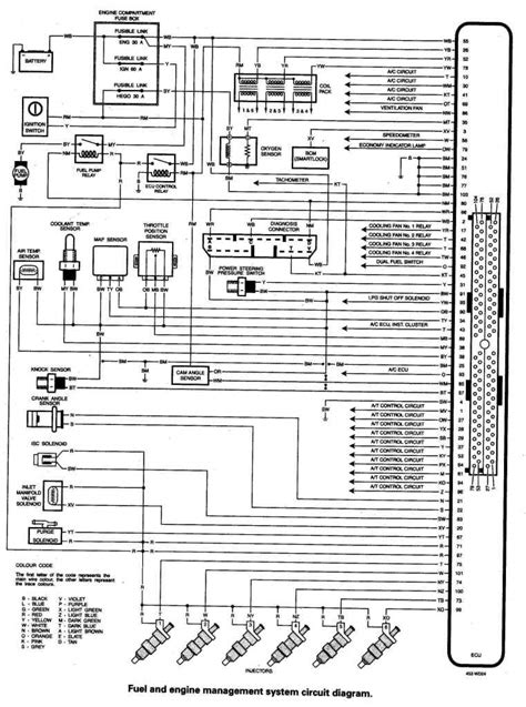 ford ef inline 6 eec v wiring pinout diagram information