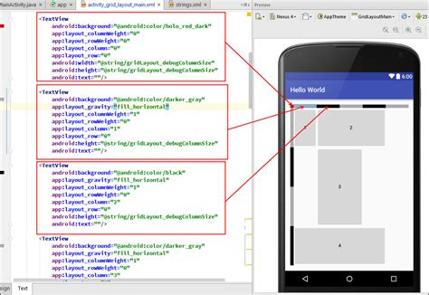 android set layout width in style happy coding box android distribute grid layout row and