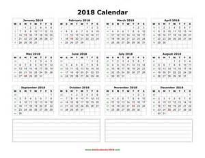 South Korea Kalender 2018 Blank Calendar 2018