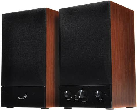 Speaker Laptop Genius genius sp hf1250b cherry wood speakers alzashop