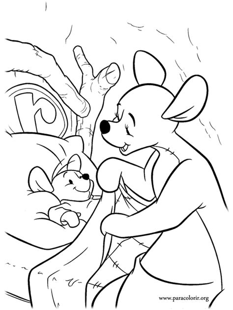 winnie the pooh characters coloring pages winnie the pooh roo and his mother kanga coloring page