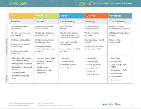 framework email marketing planner