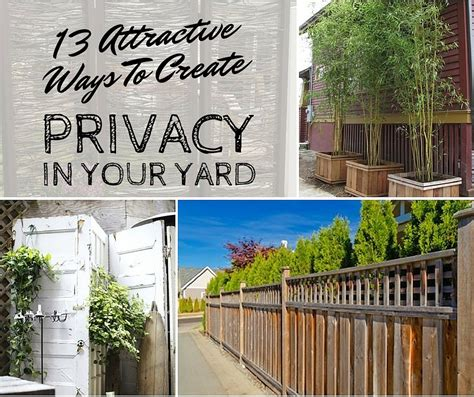 How To Create Privacy In Your Backyard by 13 Attractive Ways To Create Privacy In Your Yard Shtf