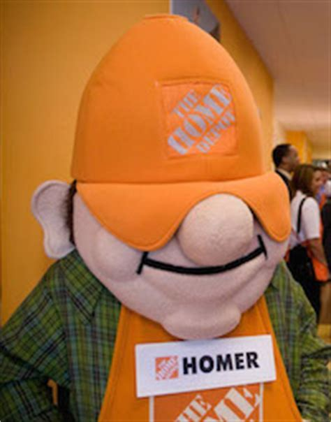 home depot homer mascot pictures to pin on
