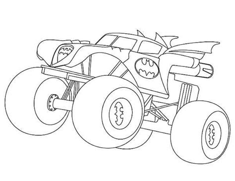 coloring pages monster trucks batman monster truck coloring page kids play color