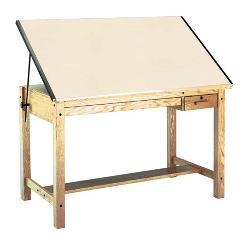 mayline drafting tables mayline oak 4 post drafting table