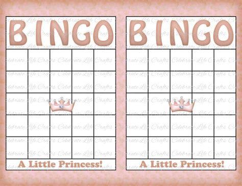 baby shower bingo cards blank blank baby shower bingo cards vintage princess printable