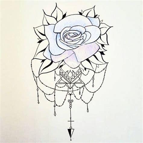 geometric rose tattoo design by boobratcher on deviantart