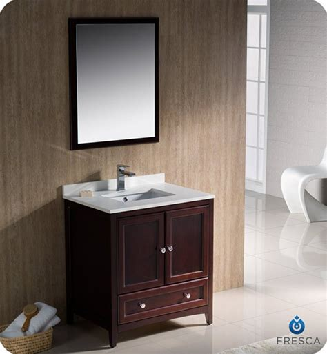 Bathroom Vanity Experts Fresca Oxford Single 30 Inch Transitional Bathroom Vanity Mahogany