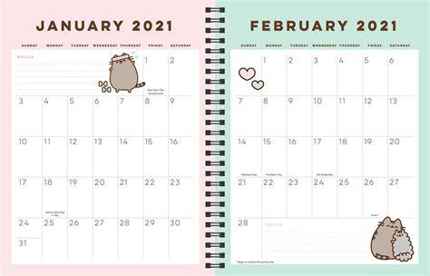 pusheen  month   weeklymonthly planner calendar book summary video official