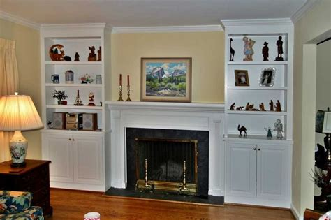 fireplace surrounds  bookcases  fireplaces