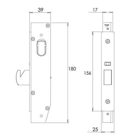 narrow line sliding door lock strike sliding door lock incl 2 esc 2 cams