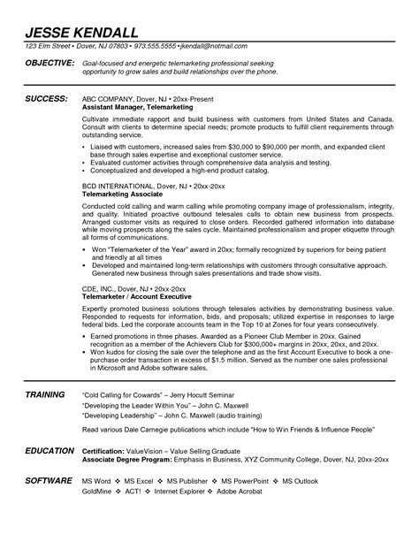 Appliance Sales Sle Resume by Furniture Sales Resume