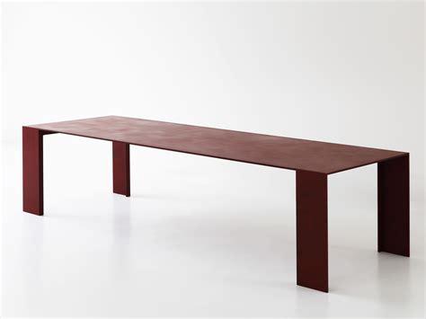 tavolo porro tavolo in metallo metallico by porro design piero lissoni