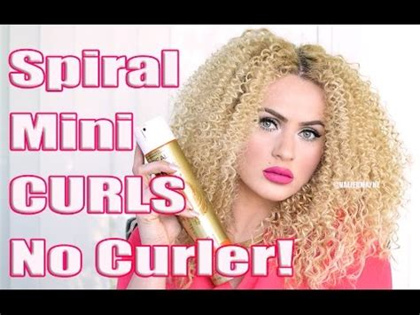 how to get small curls without perming how to get spiral curls without a curling iron youtube