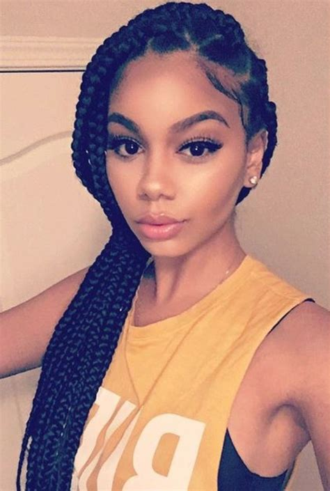 the 25 best single braids hairstyles ideas on pinterest large box braids hairstyles fade haircut