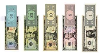 the humble libertarian monopoly money and federal reserve notes side by side when you see it