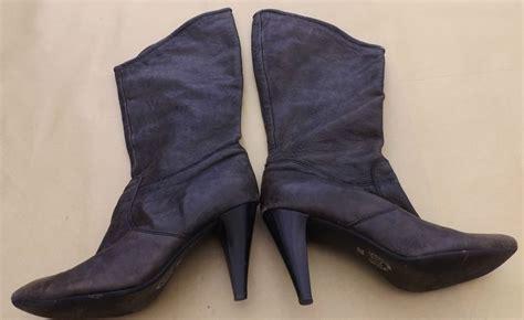 brown high heel boots size 4 37 ebay