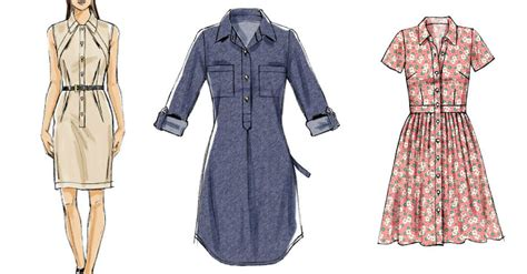 pattern for long shirt dress the dress style you need to sew now plus tips mccalls