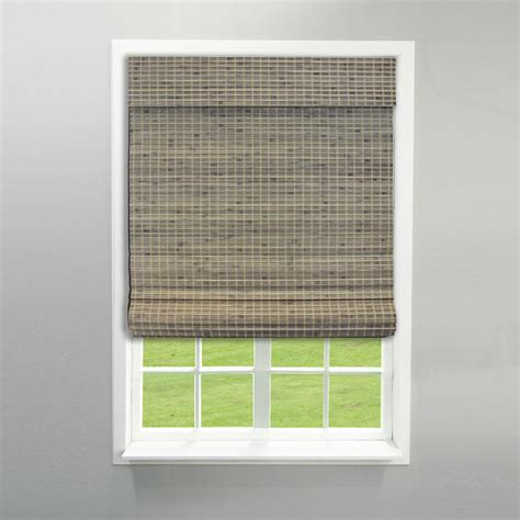 Driftwood L Shades by Radiance Cordless Driftwood Flat Weave Bamboo Shade