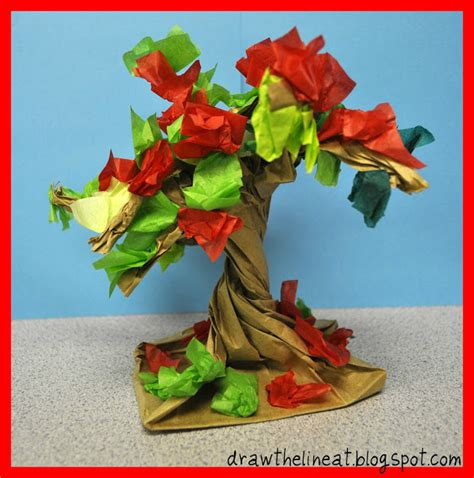 Paper Bag Tree Craft - tree activities for
