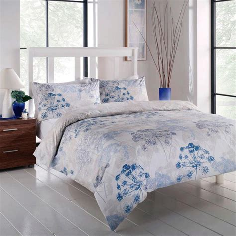 blue dandelion floral duvet set floral bedding sets
