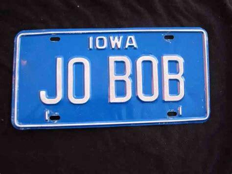 iowa vanity license plate jo bo josephine joan joanne