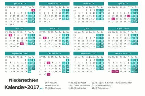 Datum Kalender 2017 Kalender 2017 Niedersachsen
