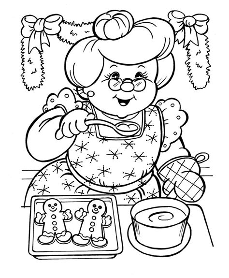 coloring pictures of santa and mrs claus mrs claus christmas coloring page coloring pages