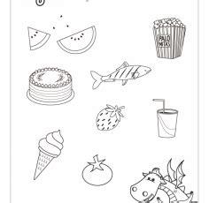 fichas alimentos infantil fichas infantil colorea los alimentos saludables