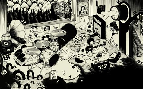wallpaper cartoon rock kitsune noir is 1 year old the desktop wallpaper project
