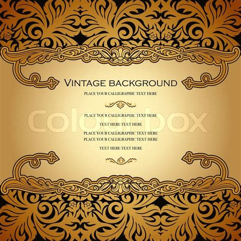 background wedding jawa vintage vector card design royal gold ornament luxury