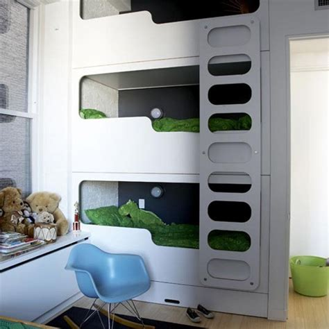 really cool bunk beds triple bunk bed panda s house