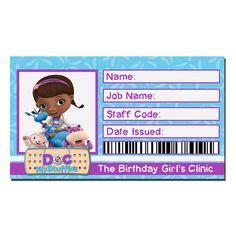 doc mcstuffins printable name tags instant download doc mcstuffins birthday id badge