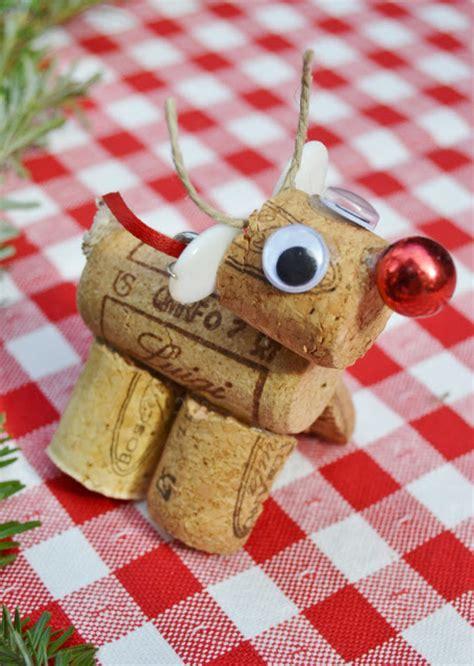 wine cork xmas crafts fir children recycled wine cork reindeer diy decorations