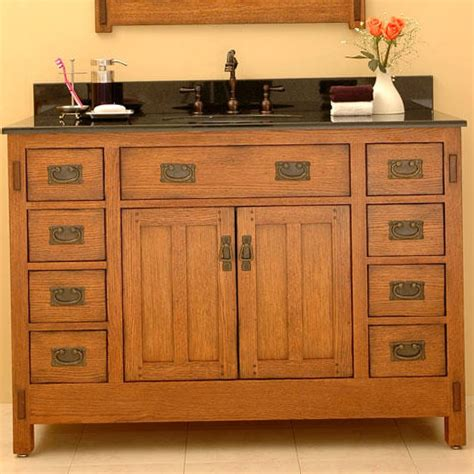 mission bathroom vanity craftsman style bathroom vanity plans vanities