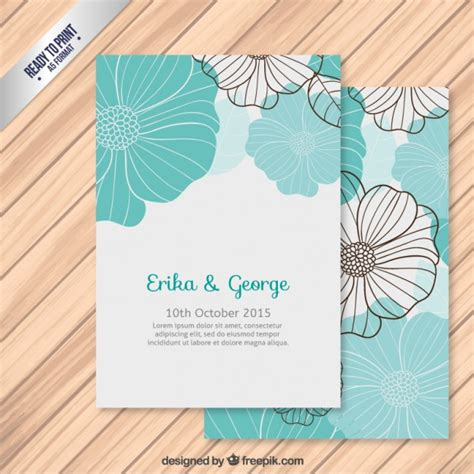 Wedding Invitation Freepik by Wedding Invitation With Flowers Vector Free