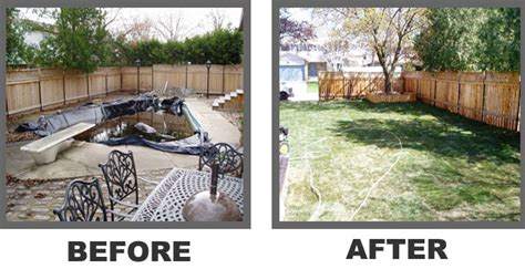 removing a pool from backyard pool fill in and removal company