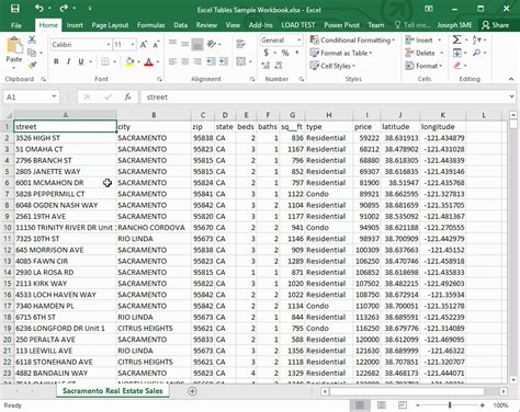 Table Exle by Excel Tables Spreadsheets Made Easy