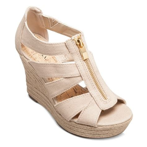 women s meredith zipper wedge sandals merona