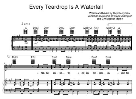 every teardrop coldplay download mp3 every teardrop is a waterfall coldplay sheet music