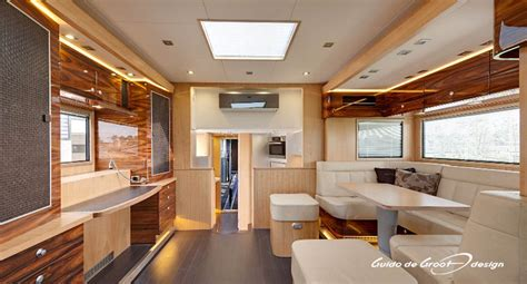 luxury trucks inside the interior of this luxury rv unit horse truck might