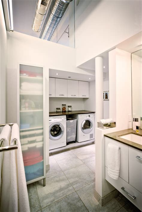 industrial laundry room downtown loft industrial laundry room other by michael fitzhugh architect