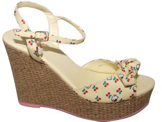 Sandal Sandal Wedges Spon Hello Pink my pink hello world hello cherry print wedge platforms shoes