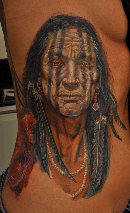 tattoo images indian indian chief tattoo by dmitriy samohin tattoonow
