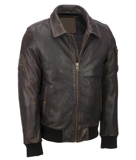Jacket Bomberkeren 11 mens distressed brown leather vintage bomber leather jacket