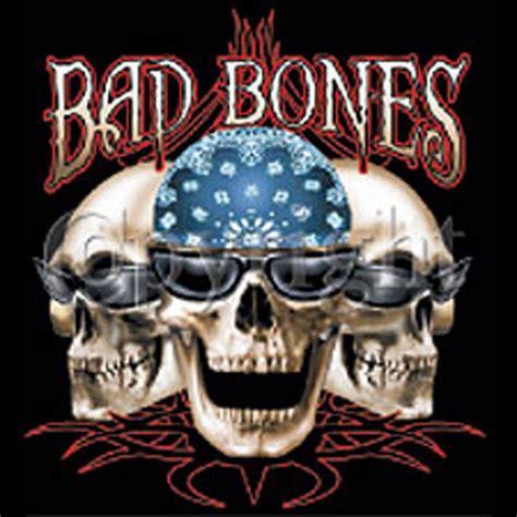 Bad Bones t shirt homme manches courtes moto biker bad bones t 234 te