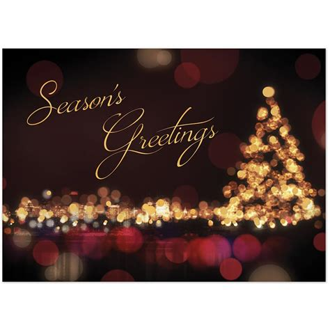 christmas greeting company business cards corporate cards on the promotions