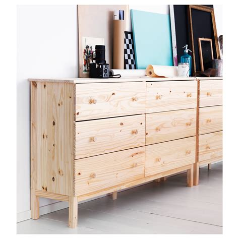 ikea wooden dresser tarva chest of 6 drawers pine 155x92 cm ikea