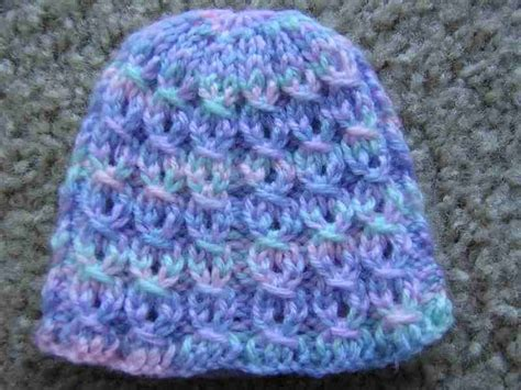 micro preemie knitting patterns mock rib and eyelet preemie hat crochet